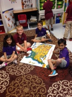 Students enjoy geography at Scottsdale Country Day School